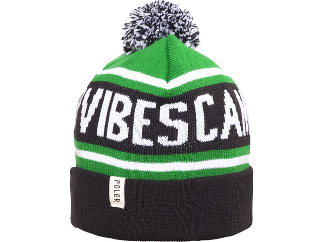 POLER Gas Station Beanie black/kelly green/white